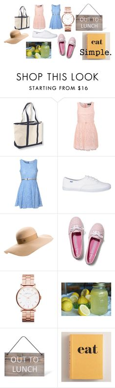 """Eat simple when going out to lunch and the weather is hot!!!!"" by shycoygirl65 on Polyvore featuring Pilot, Glamorous, Maison Michel, Keds, Marc by Marc Jacobs, Garden Trading, Cost Plus World Market and CO"