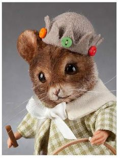 R John Wright Collectible Dolls - Tom, The Summer Mouse