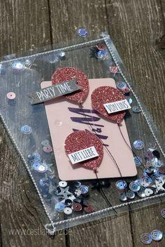 Shake card with voucher (Diy Gifts) Diy Birthday, Birthday Cards, Birthday Gifts, Diy Presents, Diy Gifts, Diy Y Manualidades, Diy And Crafts, Paper Crafts, Fun Crafts