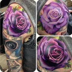 Rose tattoos for women are the latest in-vogue fashion. We cover the most popular rose tattoos for women, their meanings, and examples. Pretty Tattoos, Sexy Tattoos, Cute Tattoos, Beautiful Tattoos, Body Art Tattoos, Tatoos, Rose Sleeve Tattoos, Girl Tattoos, Portrait Tattoos