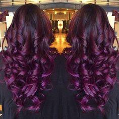 Maroon-ish purple hair