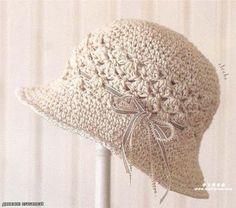 Beautiful crochet hat ~ YARN CROCHET