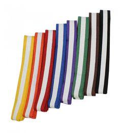 Judo Gürtel für alle Kyu Grade   einfarbig & zweifarbig