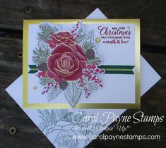 Gold Foil Christmastime by Carol Payne - Cards and Paper Crafts at Splitcoaststampers Homemade Christmas Cards, Christmas Tree Cards, Stampin Up Christmas, Xmas Cards, Christmas Greetings, Christmas Rose, Christmas Time Is Here, Simple Christmas, Christmas 2019