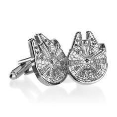 Cufflinks Inc - Star Wars Collection Millenium Falcon Blueprint Cufflinks    I bet these could be tastefully DIY-ed with polymer clay.