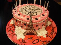 white and neon b irthday cakes for tween girls fondant | ... cake this was a cake made for a paris themed party the birthday girls