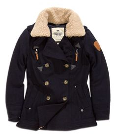 Look what I found on #zulily! Ocean Deep Wool-Blend Pilot Jacket by TIMEOUT #zulilyfinds