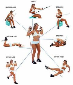 Resistance bands are a great way to tone and strengthen muscles on the road or at home. Click now and reshape your body with this Total Body Workout using Resistance Bands. #resistancebands #workout #fitness