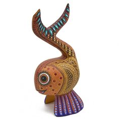 Oaxacan Wood Carving- Angel Fabian Mendez: Fish