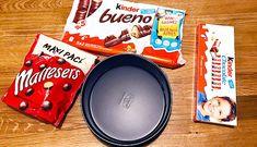 Recept: Malteser Kinder Bueno Cheesecake! - Fitaddict.nl Malteser, Addiction, Chocolate, Fit, Kinder Bueno Cheesecake, Shape, Chocolates, Brown