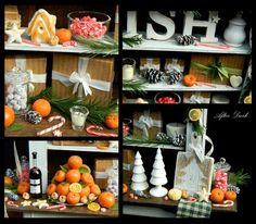 Warmest Winter Wishes Rustic Cabinet Display by afterdarkafterall