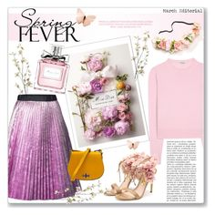 """""""Perfume For Spring - Miss Dior"""" by alexandrazeres ❤ liked on Polyvore featuring Pier 1 Imports, Romance Was Born, Miu Miu, Rupert Sanderson, Christian Dior, Spring, flower, Dior, perfume and scent"""