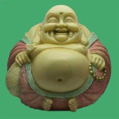 A laughing buddha.
