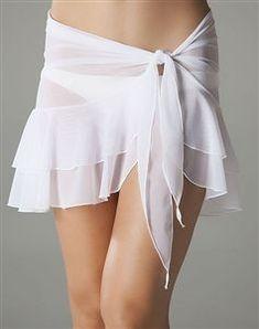 Mesh Ruffle Sarong in White - Bademode Trendy Outfits, Summer Outfits, Swimwear Cover Ups, Trendy Swimwear, High Cut Bikini, Lingerie, Beachwear For Women, One Piece Swimwear, Beach Dresses