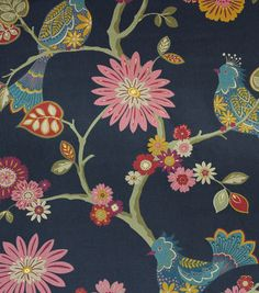 Content: Cotton Width: 54 Inches Fabric Type: Print Upholstery Grade: N/A Horizontal Repeat: 27 Inches Verticle Repeat: 36 Inches Finish: N/A Durability: N/A Flammability Code: N/A UV Testing: (O Folk Art Flowers, Flower Art, Sofa Pillow Covers, Drapery Fabric, Curtains, Home Decor Fabric, Fabric Art, Outdoor Fabric, Joanns Fabric And Crafts