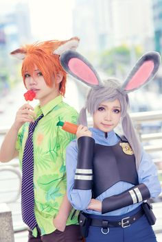 Cure WorldCosplay is a free website for submitting cosplay photos and is used by cosplayers in countries all around the world. Even if you're not a cosplayer yourself, you can still enjoy looking at high-quality cosplay photos from around the world. Judy Hopps Cosplay, Zootopia Cosplay, Nick And Judy, Nick Wilde, Cure, Costumes, Disney, Amazing, Animals