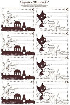 FREE printable cat labels / name plates Free Printable Tags, Free Printables, Splat Le Chat, Paper Toys, Paper Crafts, Paper Clip Art, Childrens Wall Art, Writing Paper, Free Prints