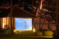 Outdoor movies at Ban Suriya, Lipa Noi, Koh Samui
