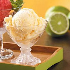 Lighter Peach Ice Cream Recipe -Peaches are a pleasure eaten plain. But when blended into ice cream, they're incredible. Lighter than commercial brands, this cool concoction is a natural family pleaser. —Florine Bruns, Fredericksburg, TX