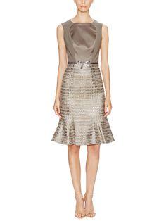 Sequined Tweed Metallic Dress from Carolina Herrera on Gilt