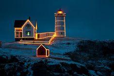 Christmas at Nubble Light