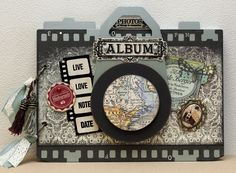 camera album - Scrapbook.com  This albums was created using some of the products from Art of Life Collection from Kaisercraft.