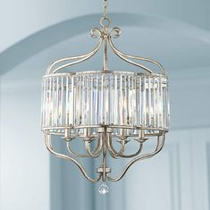 Illuminate your decor with this transitional antique soft silver and crystal chandelier from the Vienna Full Spectrum collection of pendants. 28 high x wide. Canopy is 5 wide. Style # at Lamps Plus. Chandelier Design, Chandelier Lighting Fixtures, Silver Chandelier, Chandelier Pendant Lights, Ceiling Pendant, Dining Chandelier, Modern Chandelier, Pendant Lamp, Crystal Light Fixture