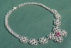 Reversible (2 colours) Chain Maille Necklace