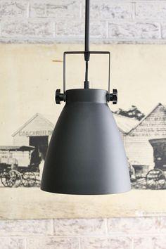 Cellar Pendant Light. Pole Mount. Industrial urban, black metal finish - Fat Shack Vintage - Fat Shack Vintage