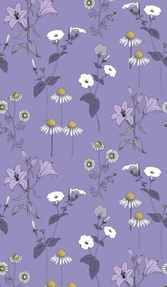lily, lilies, chamomile, meadow, field, camomile, daisy, blue, petunia, violet, vector, fabric, romantic, textile, beautiful, retro, leaf, plant, blossom, art, texture, wallpaper, nature, spring, decoration, summer, floral, seamless, pattern, flower, design, background, illustration