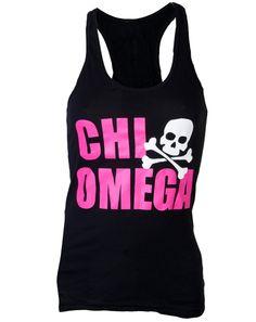 Chi Omega Skull Tank