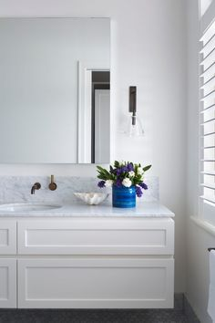 Glen Iris Residence by Brownlow Interior Design. Love this bathroom styling.