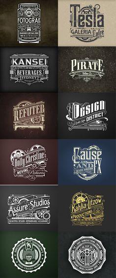 New flowers vintage logo fonts 58 Ideas Vintage Logo Design, Vintage Typography, Typography Letters, Typography Logo, Graphic Design Typography, Art Logo, Lettering Design, Logo Branding, Logos Vintage