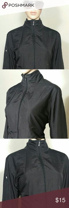 Champion Womens Black Full-Zip Windbreaker Jacket Size XL EXTRA LARGE - 100% Polyester In Very good condition!! Very adorable!! Fast shipping!! Champion Jackets & Coats