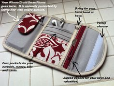 Great phone wallet design - would be easy enough to duplicate. I would eliminate the binding (since mine would be a mess, lol) and just sew a backing on RST. The zipper pouch could be the kind from Michelle Patterns Zip Pocket Pouch. Need to try this :)