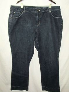 acca55f5cb2 Cato Premium Womens Jeans Plus Size 26W Blue Denim Stretch Boot Cut A18   Cato