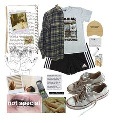"""Im not special."" by vveee ❤ liked on Polyvore featuring adidas and Converse"