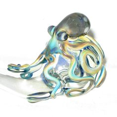 Octopus Glass Pipe #Bong #Pipe #Waterpipe #Stoner #Pot #Weed #Glasspipe #Teagardins #SmokeShop http://Teagardins.com