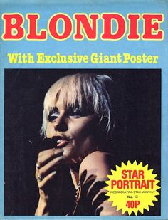 BLONDIE - STAR PORTRAIT POSTER MAGAZINE -