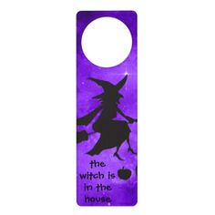 The Witch is in the House Halloween Door Hanger - home gifts ideas decor special unique custom individual customized individualized