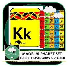 Maori Alphabet Frieze, Flashcards and Poster Colourful Maori Design Fantastic Maori Language resource for personal or classroom use as needed - great to support learners of Te Reo and brighten up any classroom. Secondary Resources, Teaching Resources, Tes Resources, Birthday Charts, Maori Designs, Primary Classroom, Teaching English, Vocabulary, Activities For Kids