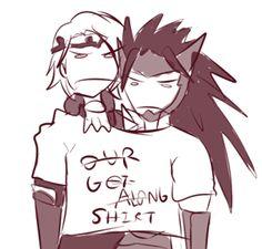 Ryouma and Marx getting along