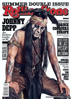 Johnny Depp -Rolling Stone magazine cover [US] (July 2013)...duh, he'd be a rollingstone!!