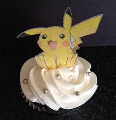 Edible Wafer Paper Cupcake Topper - Pikachu 3 Poses