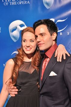 Sierra Boggess and Ramin Karimloo from the 25th anniversary production of Phantom of the Opera