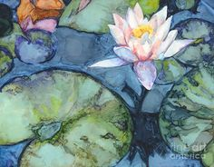 Pond Lily Painting by Vicki Baun Barry