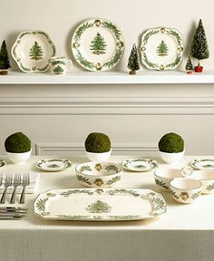 Macy's Exclusive Spode Christmas Tree Garland Dinnerware Collection - Casual Dinnerware - Dining & Entertaining - Macy's