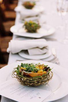 wedding reception salad course
