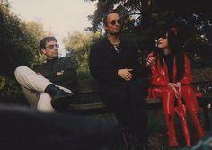 Douglas P., David Tibet and Rose McDowall #musicians #music #douglas #p #pierce #death #in #june #david #tibet #current #93 #rose #mcdowall #strawberry #switchblade #portrait #collaborators #neo #folk #doom #pop #goth #gothic #icons #iconic #death #dirges #portrait