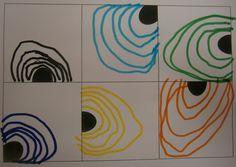 LA CLASE DE MIREN: mis experiencias en el aula: TALLER DE GRAFISMO: SEMICÍRCULOS Y CONTORNOS